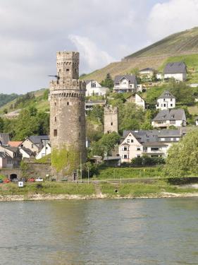 Tower of Braubach, Near Koblenz, the Rhine River, Rhineland-Palatinate, Germany, Europe by Olivieri Oliviero