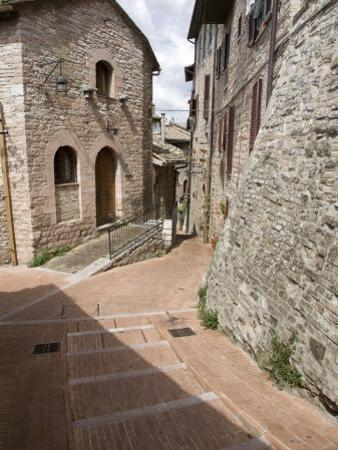 Vicoli, Side Streets, Assisi, Umbria, Italy, Europe