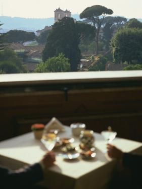 View over the Pingo Gardens from the Hotel Eden, Rome, Lazio, Italy, Europe by Olivieri Oliviero