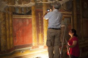Archeologists and Restorers Studing the Frescos at Poppea Villa (Villa Poppaea) by Oliviero Olivieri