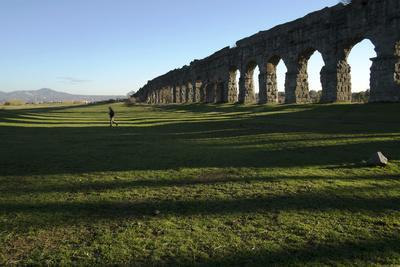 One of the Largest Aqueducts in Rome Built in the Year 38 Bc, Rome, Lazio, Italy, Europe