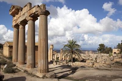 The Temple of Demeter, Cyrene, UNESCO World Heritage Site, Libya, North Africa, Africa
