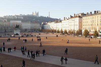 Place Bellecour, Lyon, Rhone-Alpes, France, Europe