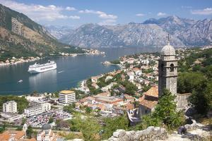 Kotor Bay and Bell Tower of Our Lady of Salvation, Montenegro by ollirg