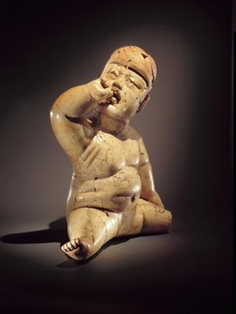 Baby Figure (Ceramic, Cinnabar and Red Ochre)