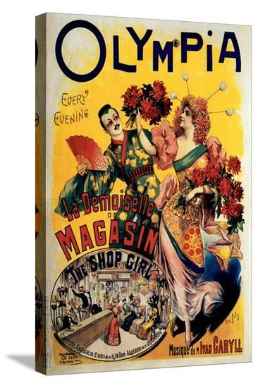 Olympia, The Shop Girl Operette-Louis Galice-Stretched Canvas Print
