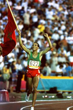 Olympic Games in Los Angeles, 1984 : Moroccan Athlet Said Aouita Win the 5000M