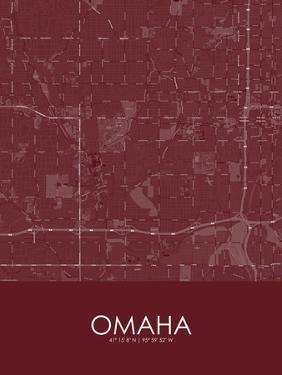 Omaha, United States of America Red Map