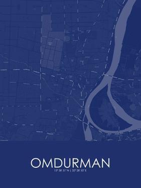 Omdurman, Sudan Blue Map