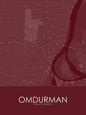 Omdurman, Sudan Red Map