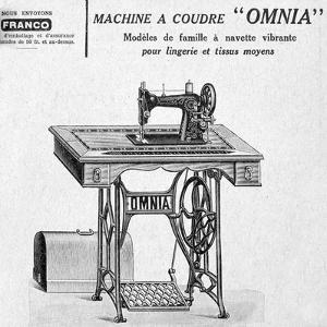 Omnia' Sewing Machines Advertisement, 20th Century