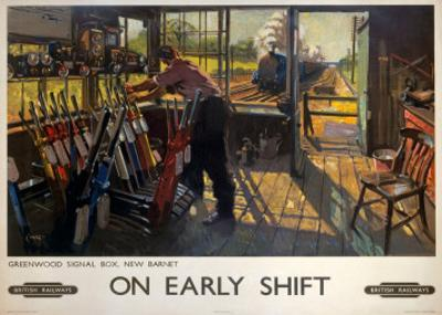 On Early Shift, Greenwood Signal Box, New Barnet