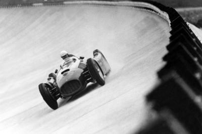 On Monza Circuit, Qualifying Round for Cars for the Grand Prix Which Take Place on Sept 2, 1955