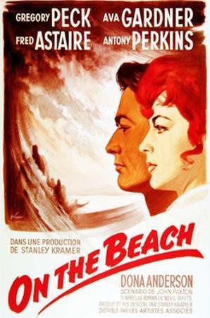 On the Beach, from Left: Gregory Peck, Ava Gardner, on French Poster Art, 1959