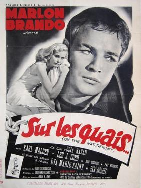 On the Waterfront, French Movie Poster, 1954