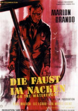 On the Waterfront, German Movie Poster, 1954