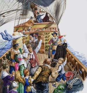 Onboard the Mayflower