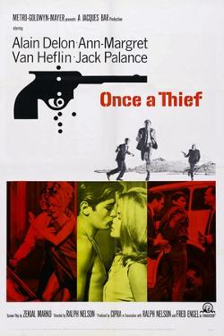 Once a Thief, Bottom Center from Left: Alain Delon, Ann-Margret, 1965