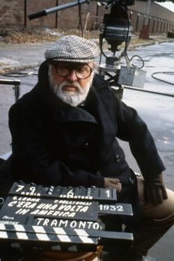 Once Upon a Time in America 1984 Directed by Sergio Leone on the Set, the Director Sergio Leone.