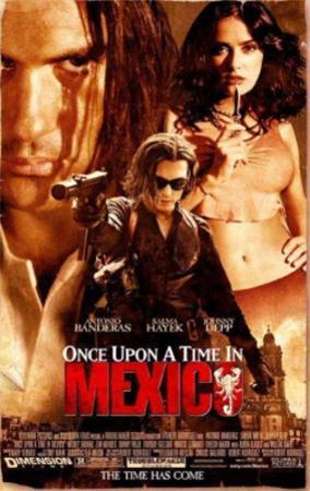 Once Upon A Time In Mexico (Antonio Banderas, Johnny Depp) Movie Poster