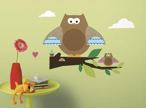 One Décor Owl & Branch Peel & Stick Wall Decals