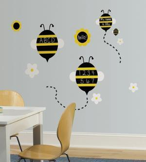 One Décor Spelling Bees Chalk Peel & Stick Wall Decals