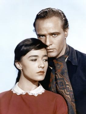 ONE-EYED JACKS, 1961 directed by MARLON BRANDO Pina Pellicer and Marlon Brando (photo)