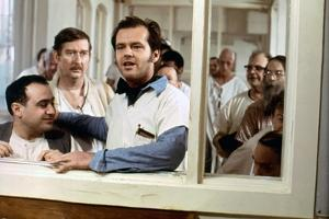 ONE FLEW OVER THE CUCKOO'S NEST, 1975 DIRECTED MILOS FORMAN Danny by Vito and Jack Nicholson (photo