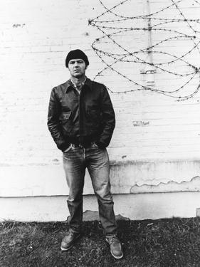 ONE FLEW OVER THE CUCKOO'S NEST, 1975 DIRECTED MILOS FORMAN Jack Nicholson (b/w photo)