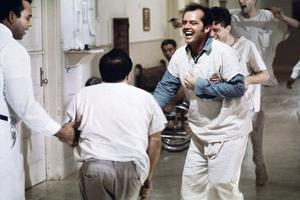 ONE FLEW OVER THE CUCKOO'S NEST, 1975 DIRECTED MILOS FORMAN Jack Nicholson (photo)