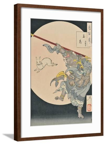 One Hundred Aspects of the Moon: The Rabbit in the Moon and the Monkey King, 1889--Framed Giclee Print