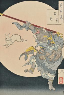 One Hundred Aspects of the Moon: The Rabbit in the Moon and the Monkey King, 1889