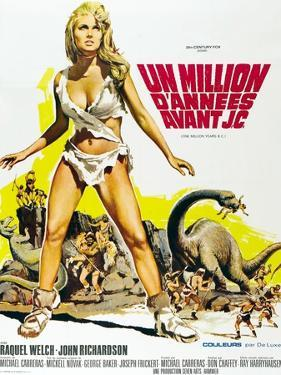 One Million Years BC, Raquel Welch on French Poster Art, 1966