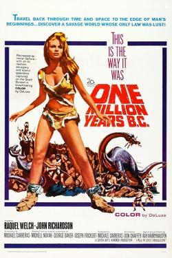 One Million Years BC, US Poster Art, Raquel Welch, 1966