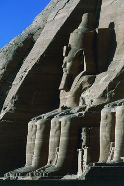 One of Four Colossal Statues of Ramses II, Facade of Great Temple of Ramses II, Abu Simbel