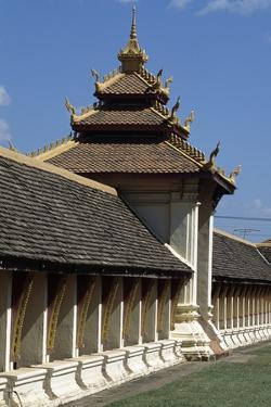 One of Pagodas of Wat That Luang (Great Sacred Stupa), Vientiane (Viangchan), Laos, 3rd Century