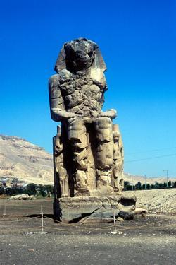 One of the Colossi of Memnon, Near the Valley of the Kings, Egypt, 14th Century Bc