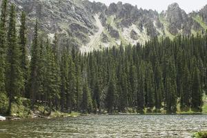 One of the Trampas Lakes High in the Pecos Wilderness, Sangre De Cristo Mountains