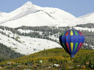 One of the Twelve Hot Air Balloons Takes Flight at Mount Crested Butte, Colorado