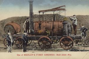 One of William Hedley's First Steam Locomotives, Built About 1813