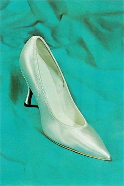 One Silver High-Heeled Shoe