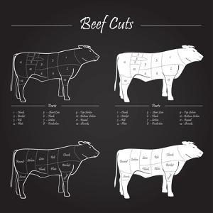Beef Cuts - Blackboard by ONiONAstudio