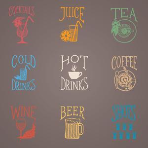 Colorfull Menu Icons - Drinks by ONiONAstudio