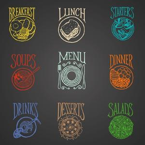 Colorfull Menu Icons - Meals by ONiONAstudio