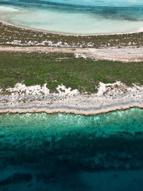 Aerial View of Exuma Cays, Bahamas by Onne van der Wal