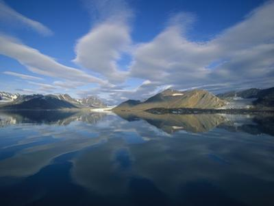 Arctic Skyline Reflecting in Water