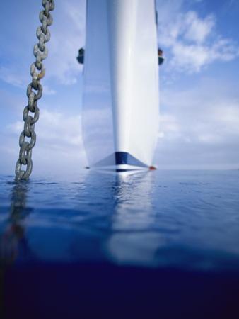 Large Boat Anchored Off Cuba