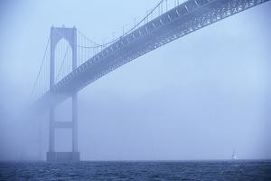 Newport Bridge in Fog by Onne van der Wal
