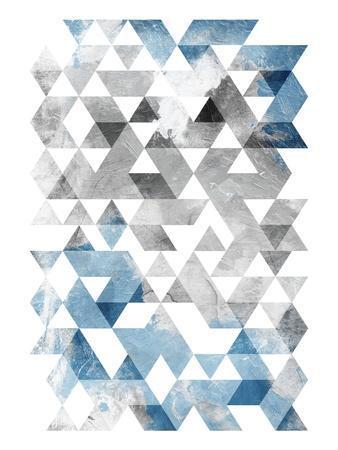 Blue Silver Triangles Mates