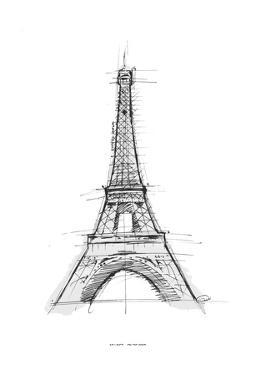 Eiffel Sketch by OnRei